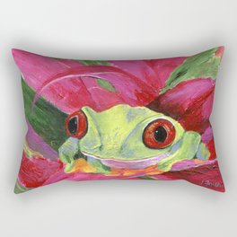 Ruby the Red Eyed Tree Frog Rectangular Pillow