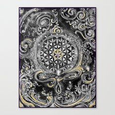 Manipura°^Golden Waves in Snowy Space Canvas Print