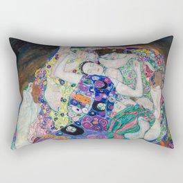 Gustav Klimt / The virgin Rectangular Pillow