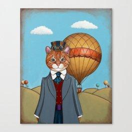 Anthropomorphic Steampunk Cat Canvas Print