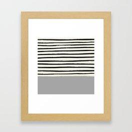 Storm Grey x Stripes Framed Art Print