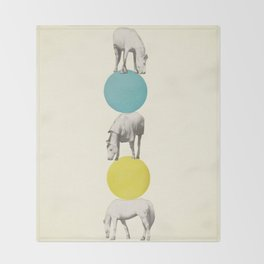 Horseplay Throw Blanket