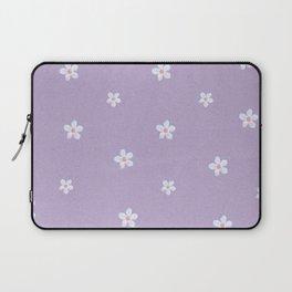 Modern lavender teal pink hand painted floral Laptop Sleeve