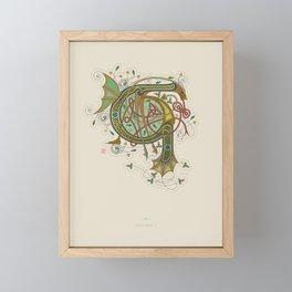 Celtic Initial G Framed Mini Art Print