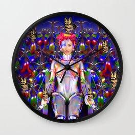 Robot Butterfly Wall Clock