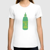 sriracha T-shirts featuring Sriracha, The hot sauce boss  by Tricia Robinson