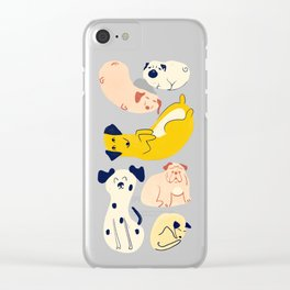 Chill Pups Clear iPhone Case