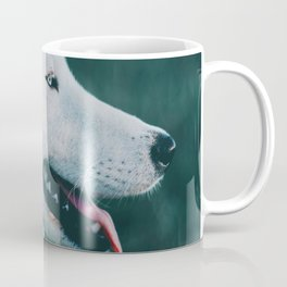 White Wolf Tongue Out (Color) Coffee Mug
