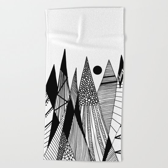 Patterns in the mountains II Beach Towel
