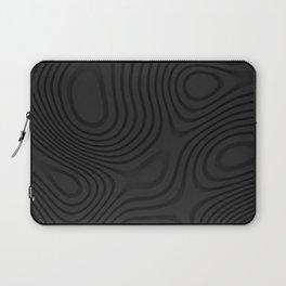 Organic Abstract 01 BLACK Laptop Sleeve