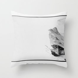 John Singer Sargent - Ortler Spitz from Summit of Stelvio Pass (from Switzerland 1869 Sketchbook) Throw Pillow