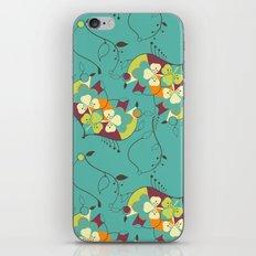 Flower hearts pattern iPhone & iPod Skin