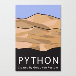 Python Programming Landscape poster Canvas Print