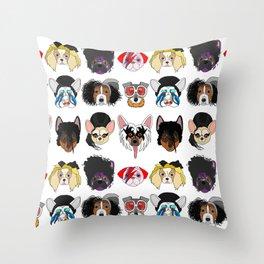 Pop Dogs Throw Pillow