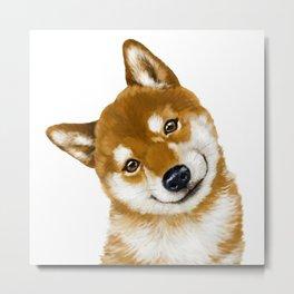 Smile Shiba Inu Metal Print