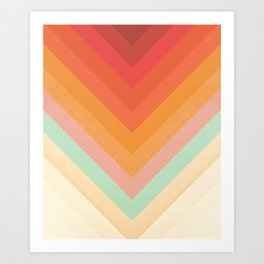 Rainbow Chevrons Art Print