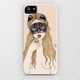CAT MASK iPhone Case