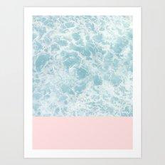 Pink on the Sea Art Print