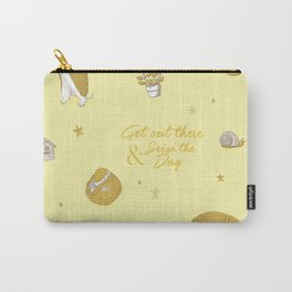 Yellow armadillo pattern Carry-All Pouch