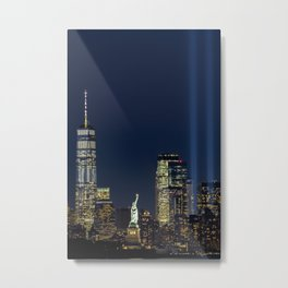 Lady Liberty, The Freedom Tower & Memorial Lights Metal Print