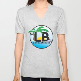 Long Beach CA Logo Design Unisex V-Neck
