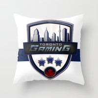 gaming Throw Pillows featuring Toronto Gaming by rramrattan