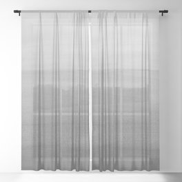 Touching Black Gray White Watercolor Abstract #2 #painting #decor #art #society6 Sheer Curtain