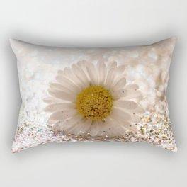 GLITTER & DAISY GOLD Rectangular Pillow
