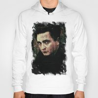 johnny cash Hoodies featuring Cash by Sirenphotos