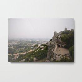 Castle in Fog Metal Print