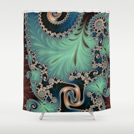 Azure - Fractal Art Shower Curtain