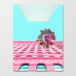LA Palm Tree Look Up Canvas Print