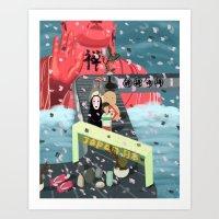 Zen and Japanese Animation  Art Print
