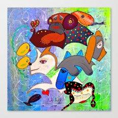 SERENE BARKS Canvas Print