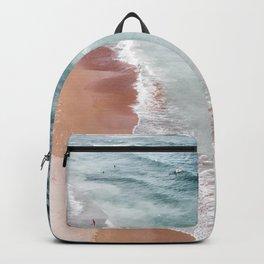 Ocean Print, Beach Sea Print, Aerial Beach Print, Minimalist Print, Beach Photography, Bondi Beach Backpack
