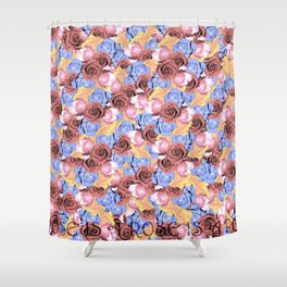 Rose is a rose is a ro... Shower Curtain