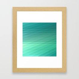 Fig. 043 Mint Green Geometric Diagonal Stripes Framed Art Print