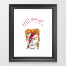 Bowie birthday card Framed Art Print