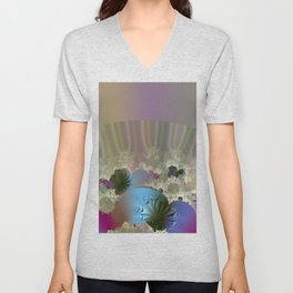 Under the calm surface Unisex V-Neck
