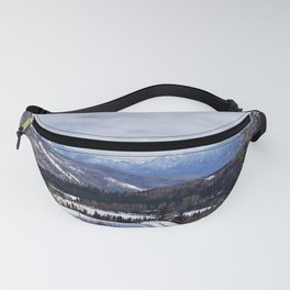 Mountain Winter Road Fanny Pack