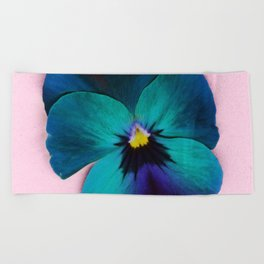 Viola tricolor Beach Towel