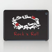 rock n roll iPad Cases featuring Rock 'N Roll by Estaschia Cossadianos