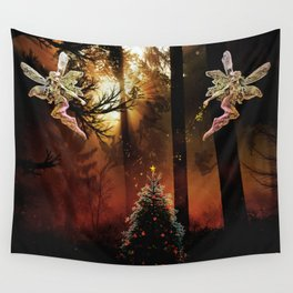Christmas Faerie Dust Wall Tapestry