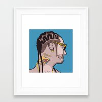 riff raff Framed Art Prints featuring Riff Raff by Michael Walchalk