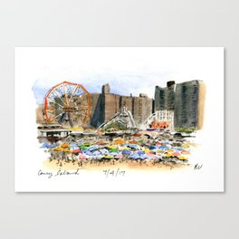 Coney Island on the Fourth of July Canvas Print