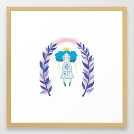 Nature Kween Framed Art Print
