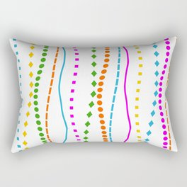 Lines with a difference Rectangular Pillow