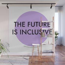 The Future Is Inclusive - Purple Wall Mural