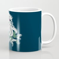 lovecraft Mugs featuring Stormthulhu by Hillary White