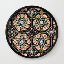 Millefiori Floral Wall Clock